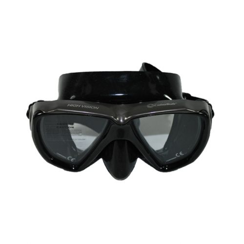 máscara buceo y snorkeling negra High Vision