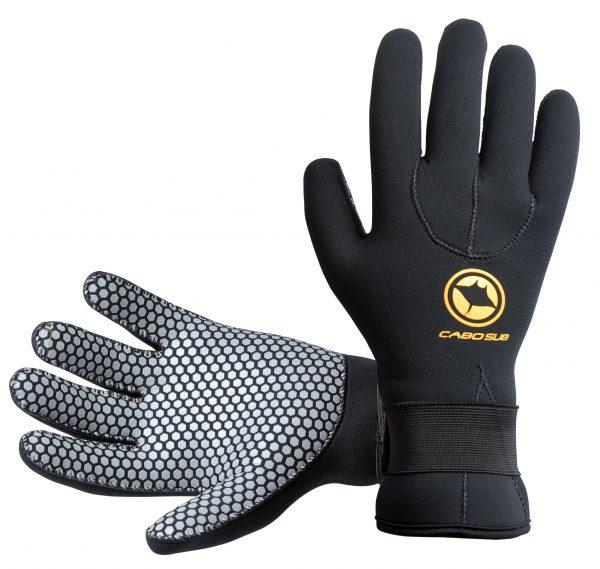 guantes de buceo negro