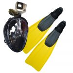 Pack snorkeling Fullface gopro