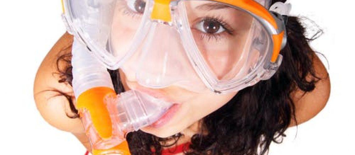 mascara de snorkel